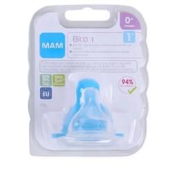 Bico 1 para Mamadeira MAM - Fluxo Lento - Embalagem Unitária
