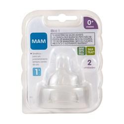 Bico 1 para Mamadeiras MAM - Fluxo Lento - Embalagem Dupla
