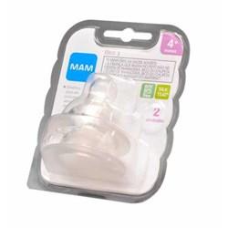 Bico para Mamadeiras MAM Antivazamento - Fluxo Rápido - Embalagem Dupla