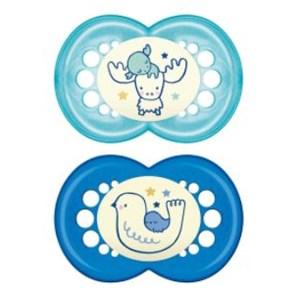 Chupeta MAM Original Night 6+ Meses - Embalagem Dupla Azul