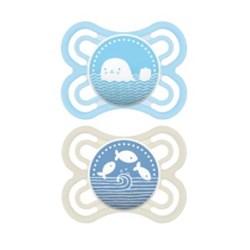 Chupeta MAM Perfect 0-6 meses Azul - Embalagem Dupla