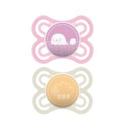 Chupeta MAM Perfect 0-6 meses Rosa - Embalagem Dupla