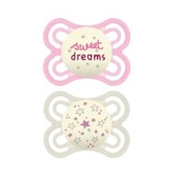 Chupeta MAM Perfect Night 0-6 meses Rosa - Embalagem Dupla