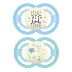 Chupeta MAM Perfect Night 6+ meses Azul - Embalagem Dupla
