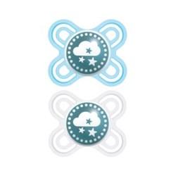 Chupeta MAM Perfect Start 0-2 meses Azul - Emabalagem Dupla