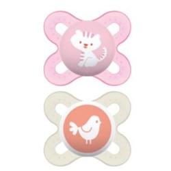 Chupeta MAM Start 0-2 meses Rosa - Embalagem Dupla