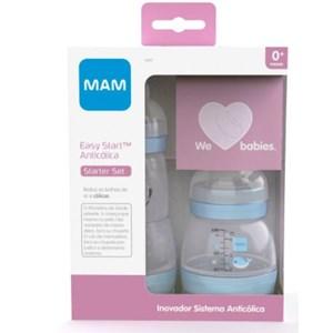 Kit 2 Mamadeiras MAM Easy Start Azul - Starter Set