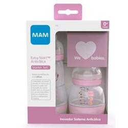 Kit 2 Mamadeiras MAM Easy Start  Rosa- Starter Set