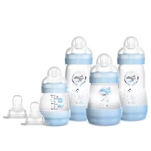 Kit 4 Mamadeiras MAM Easy Start Azul - Gift Set