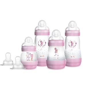 Kit 4 Mamadeiras MAM Easy Start Rosa - Gift Set