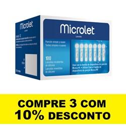 Lancetas Microlet - Caixa C/ 100 Unidades