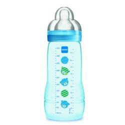 Mamadeira Mam Easy Active Azul +4 meses 330ml - Embalagem Unitária
