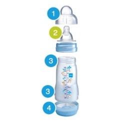 Mamadeira Mam Easy Start 260ml  Azul - Embalagem Dupla